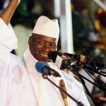 FILE PHOTO – Gambia's President Jammeh smiles during a rally in Banjul
