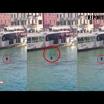 African Migrant DROWNS in Venice Grand Canal | Exclusive Live Footage |  REPORTERBOX